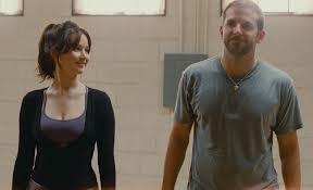 Jennifer Lawrence and Bradley Cooper as Tiffany and Pat in Silver Linings Playbook
