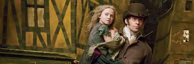 Hugh Jackman and Isabelle Allen (young Cosette)