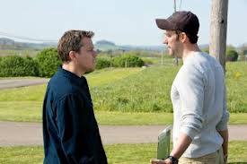 Matt Damon and John Krasinski in Promised Land