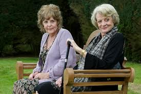 Pauline Collins & Maggie Smith in a scene from Quartet
