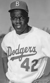 Jackie Robinson in Dodgers Uniform
